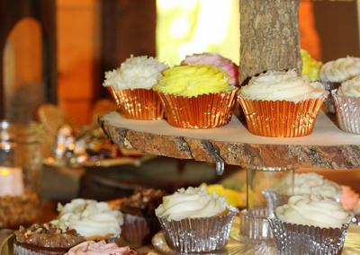 cupcake display closeup